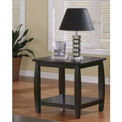 Marina End Table with 1 Shelf in Cappuccino Finish - 701077