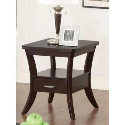 Flared Leg End Table in Espresso - 702507