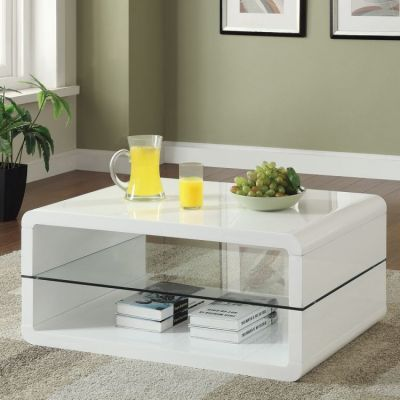 2 Shelf Coffee Table in White - 703268