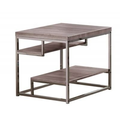Wood End Table in Dark Grey - 703727