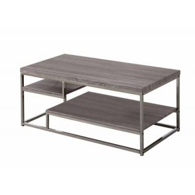 Wood Coffee Table in Dark Grey - 703728