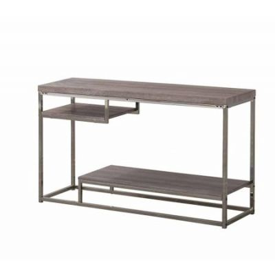 Wood Sofa Table in Dark Grey - 703729