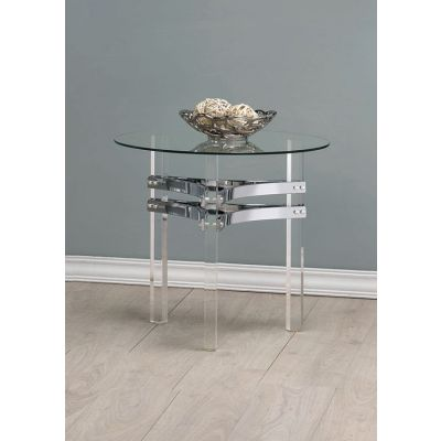 Contemporary Chrome End Table - 720707