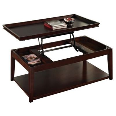 Clemson Lift Top Cocktail Table With Casters in Cherry - CL900C