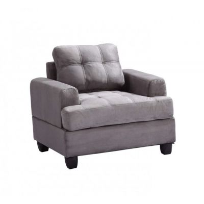 Progressive Chair in Grey Suede - G513A-C