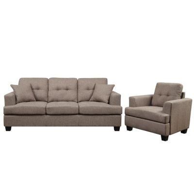 Clearview 2 piece Living Room Set in Brown - 001617_Kit