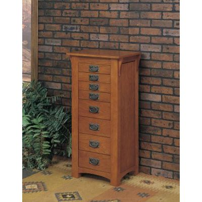 Mission Oak Jewelry Armoire - 255