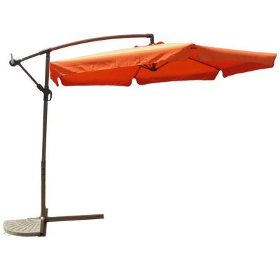 Aluminum Cantilever Hanging Umbrella in Terra Cotta - YF-1102-F-TC
