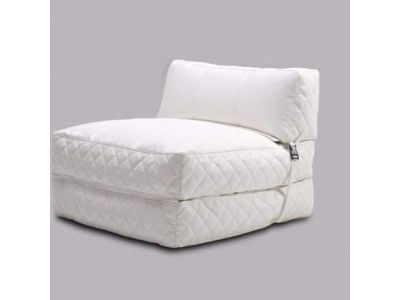 Austin Bean Bag Chair Bed in White