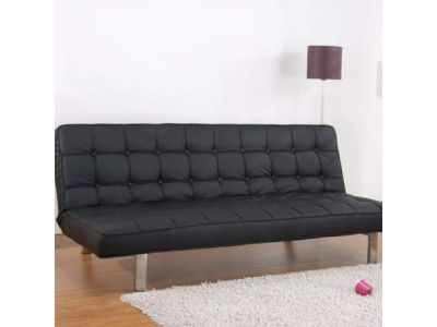 Vegas Futon Sofa Bed in Black
