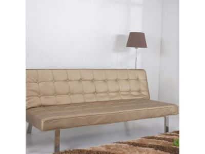 Vegas Futon Sofa Bed in Champagne