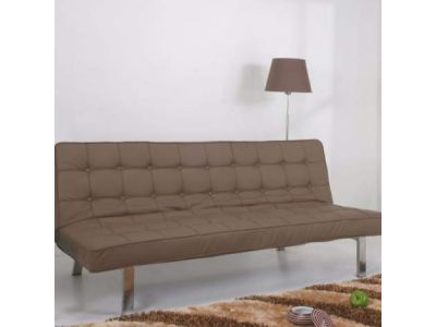Vegas Futon Sofa Bed in Taupe