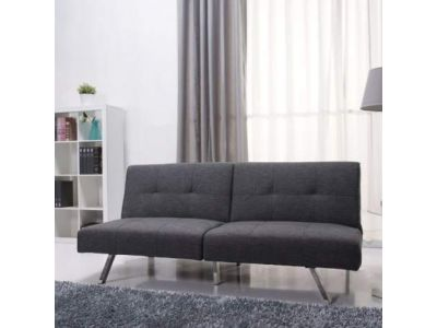 Victorville Foldable Futon Sofa Bed in Gray