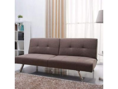 Victorville Foldable Futon Sofa Bed in Mocha