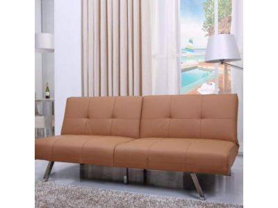 Victorville Foladable Futon Sofa Bed in Camel