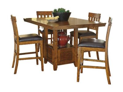 Ralene 5 Piece Counter Height Set in Brown