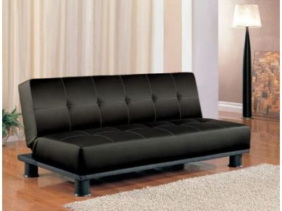 Black Futon Armless Sofa Bed