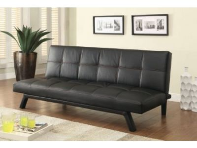 Black Futon Leather Sofa Bed