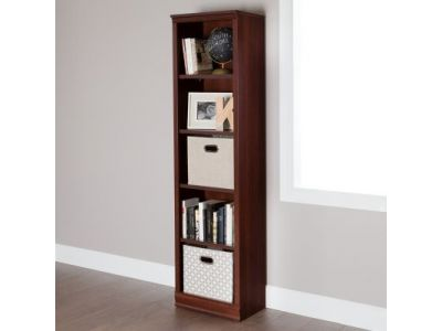 Morgan 5-Shelf Narrow Bookcase Royal Cherry