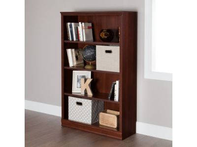 Morgan 4-Shelf Bookcase Royal Cherry
