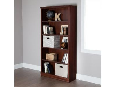 Morgan 5-Shelf Bookcase Royal Cherry