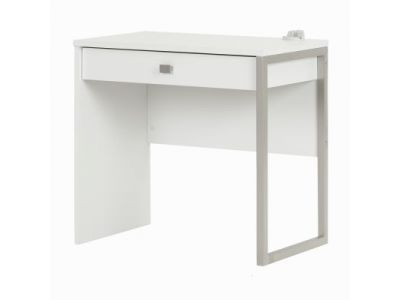 Interface Desk with 1 Drawer Pure White