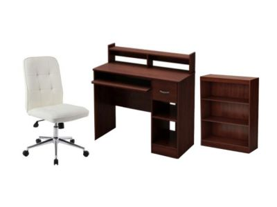 3 Piece Home Office set in Royal Cherry