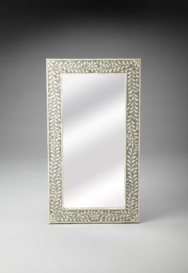 Bone Inlay Wall Mirror - 3479321