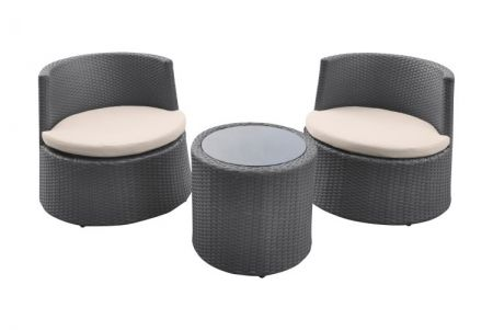 Kailani Outdoor Wicker Patio Set (Table with 2 chairs) - SETODKABE
