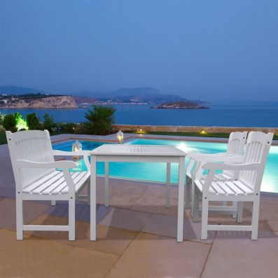 Bradley Wood 4-piece Outdoor Dining Set - V1336SET10