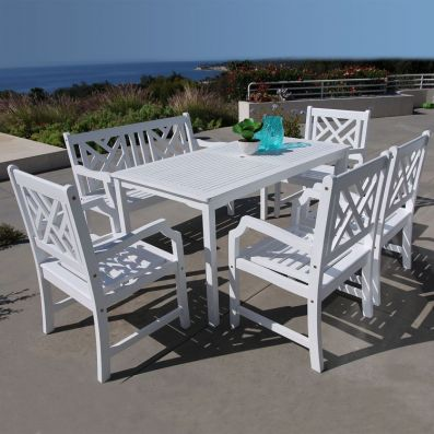 Bradley Wood 6-piece Outdoor Dining Set - V1336SET23