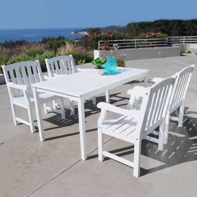Bradley Wood 5-piece Outdoor Dining Set - V1336SET6