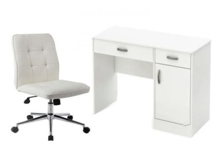 2 Piece Home Office set in White - 001502_Kit