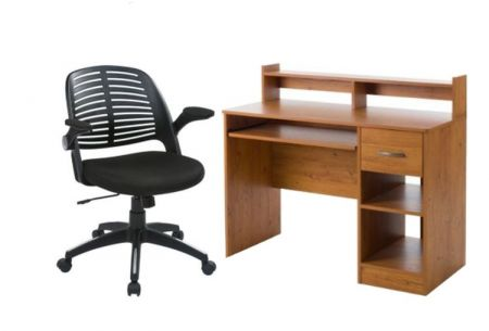 2 Piece Home Office set in Country Pine - 001504_Kit