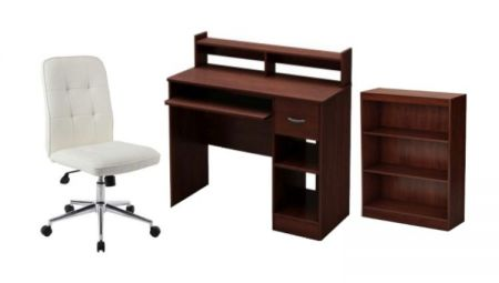 3 Piece Home Office set in Royal Cherry - 001505_Kit