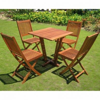 Royal Tahiti Cadiz Five Piece Patio Set in Stain - ST-015-VN-0128-4CH
