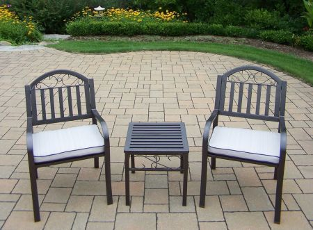 Rochester Chairs and Table 3 Piece Set with Cushions - 6129ET-3830C2-OM-5-HB