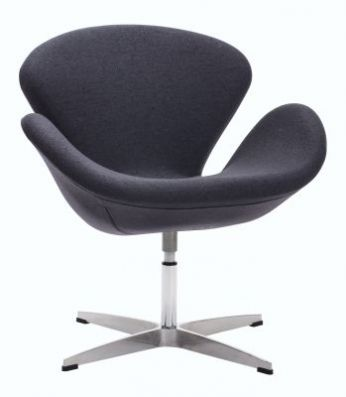 Pori Steel Frame Aaron's Chair in Iron Gray - 500310