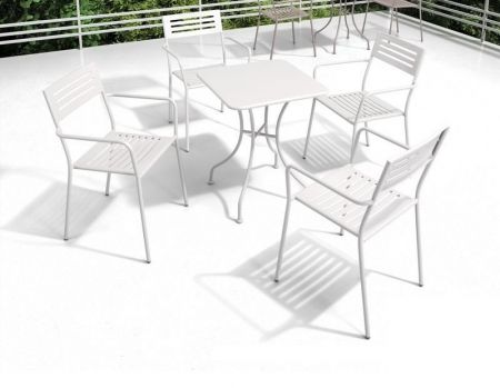 Oz 5 piece Dining Set in White - 001589_Kit