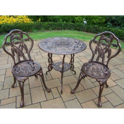 Palm Tree 3 pc Bistro Patio Set - 000161_Kit