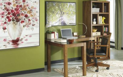 Lobink 3 piece 60'' Home Office Set in Brown - 000398_Kit